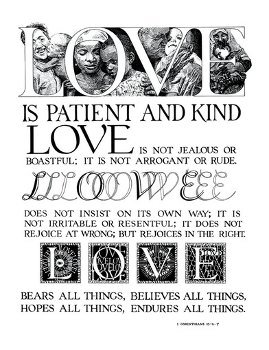 Love is Patient and Kind poster