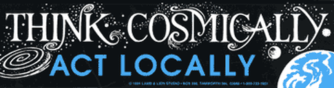 Think Cosmically, Act Locally